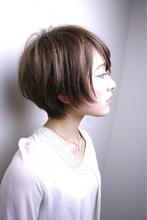 透明感とシルエットショートボブ|RENJISHI AOYAMA 本橋 寛道のヘアスタイル