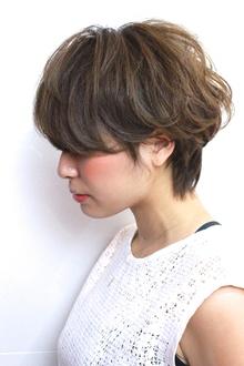 うざバングマッシュショート|RENJISHI AOYAMAのヘアスタイル