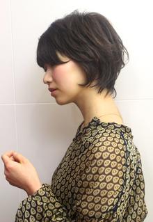 質感ショート☆とろみカラー|RENJISHI AOYAMAのヘアスタイル