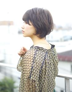 エアリーショートひし形シルエット|RENJISHI AOYAMAのヘアスタイル