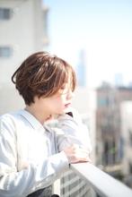 大人可愛いセンター分けショートボブ|RENJISHI AOYAMAのヘアスタイル