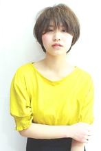 ナチュラル3Dカラーショート RENJISHI AOYAMA 高田 百唯のヘアスタイル