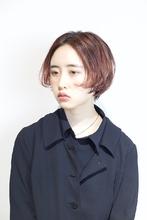 センターパート ショートボブ|RENJISHI AOYAMA 坂手 開のヘアスタイル