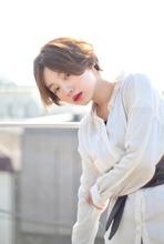 ラフに可愛いセンター分けショート RENJISHI AOYAMA 池田 涼平のヘアスタイル