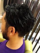 男の色気を出すスタイル|大阪上本町駅から徒歩1分の美容室|ロンロンシャ 都ホテル店のメンズヘアスタイル