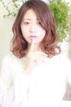 セミディに外ハネミックスウェーブ|ROUGE 目白台店 廣田 謙介のヘアスタイル