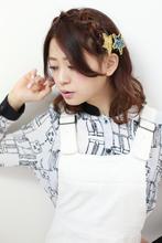 新編み込み☆チェーン編みハーフアップ ROUGE 目白台店 廣田 謙介のヘアスタイル