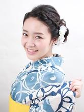 編み込みMIXのすっきり浴衣アレンジ|ROUGE 目白台店 萩原 美弥子のヘアスタイル
