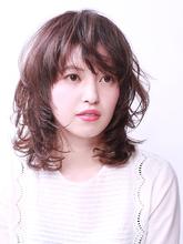 毛先ワンカールの大人かわいいふんわりスタイル!|ROUGE 目白台店のヘアスタイル