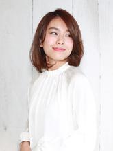 伸ばしかけ☆大人のエレガントミディアム|ROUGE 目白台店のヘアスタイル
