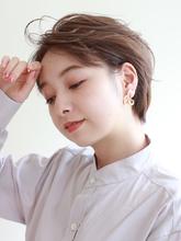 顔周りスッキリ‼ゆるウェーブの動きのある前髪がポイント!|ROUGE 目白台店のヘアスタイル