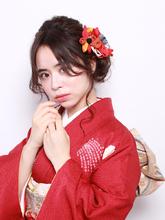 サイドアレンジで大人可愛い華やかアップ!|ROUGE mieux 金井 美雪のヘアスタイル