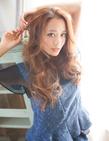 サラツヤ美髪センターパーツウェーブ