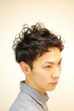 ナチュラル2ブロック|HAIR&MAKE Dimpleのメンズヘアスタイル