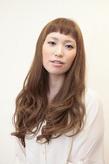 ショートバング&ヌーディーカラー|Hair Atelier DEAR-LOGUE 下北沢 のヘアスタイル