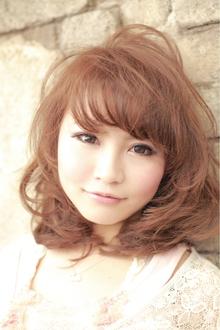 スモーキーマロン セミディーカール|afeelのヘアスタイル