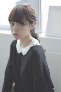 編み込みダウンスタイル