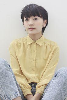 【ecouter】黒髪×耳かけマッシュショート.|ecouterのヘアスタイル
