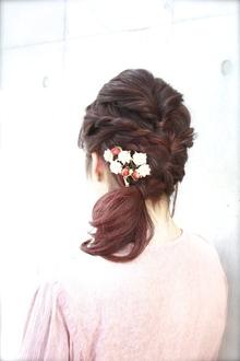 【ecouter】結婚式やパーティーにも*編み込みヘアアレンジ*|ecouterのヘアスタイル