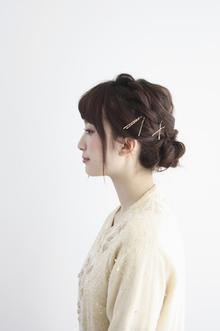 【ecouter】結婚式・パーティ・二次会*編み込みヘアアレンジ*|ecouterのヘアスタイル