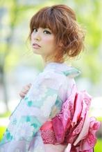 無造作ほつれ♪ふんわりナチュラルカール☆大人かわいいアップ★|felicita 緑地公園店のヘアスタイル