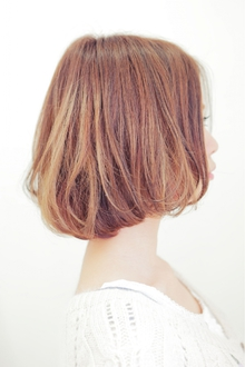 ナチュラルなエアリーカールが大人かわいい♪バルーンボブ|felicita 緑地公園店のヘアスタイル