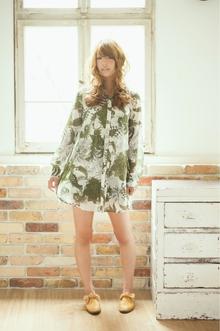 ふわふわエアリーカール♪重めバングのくっきりドーリーヘア|felicita 緑地公園店のヘアスタイル