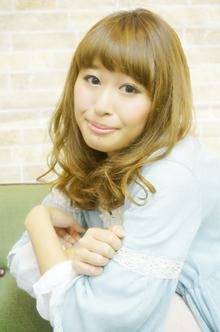 SWEET☆フェアリーカールセミディ|felicita 緑地公園店のヘアスタイル