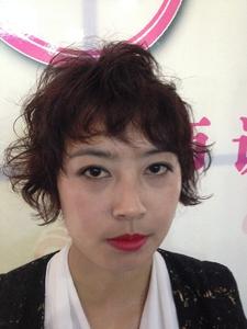 エアリーカールナチュラルウェービー★マニッシュショート|felicita 緑地公園店のヘアスタイル