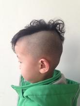 個性的ボーイズ☆ニュアンスパーマ束感モヒカン|felicita 緑地公園店のヘアスタイル