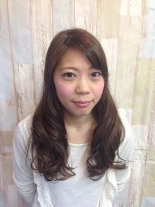 黒髪&暗髪OK!斜めバング甘辛グラマラスフェミニンロング|felicita 緑地公園店のヘアスタイル