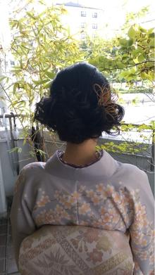 結婚式♪大人かわいいまとめ髪|felicita 緑地公園店のヘアスタイル