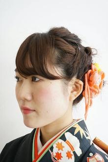【結婚式&パーティー】襟元スッキリ!華やかアップヘア|felicita 緑地公園店のヘアスタイル