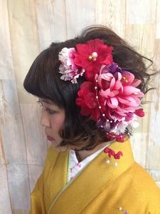 【卒業式】袴スタイル@色鮮やか花かんざしスタイル|felicita 緑地公園店のヘアスタイル