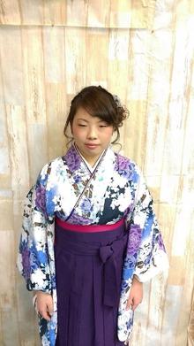 【卒業式】袴スタイル@アシメトリールーズアップ|felicita 緑地公園店のヘアスタイル