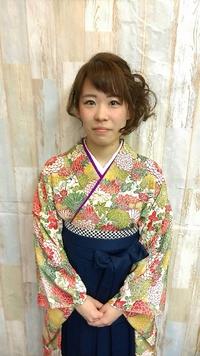 【卒業式】袴スタイル@旅立ちシンプルルーズアップ