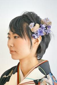 【卒業式ヘア】清楚な黒髪ショートヘア袴スタイル