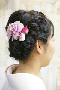 【卒業式ヘア】清楚な黒髪袴スタイル★花飾りアレンジ