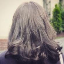 暗髪フェミニンアッシュ☆|felicita 緑地公園店 米崎 勇のヘアスタイル