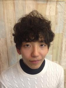 ニュアンスパーマ★スパイキーマッシュ|felicita 緑地公園店のヘアスタイル