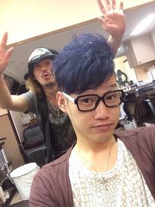 個性的なヘアカラー☆ミッドナイトブルー〜青紫の髪色〜 felicita 緑地公園店のヘアスタイル