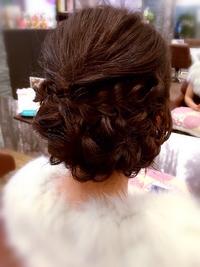 結婚式,二次会にオススメ☆大胆な編みこみ♪甘辛ヘアセット