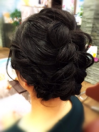 【結婚式&パーティー】着物に似合う編み込みルーズアップ