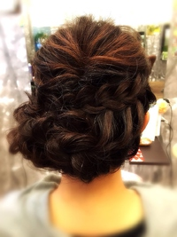 【結婚式&パーティー】三つ編みカチューシャアップヘア