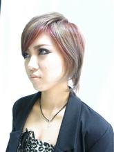 ショートレイヤー!アッシュ+アッシュピンク!!|J-ONEのヘアスタイル