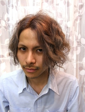 イケイケディープアッシュウェーブ|J-ONE Azari Amirのメンズヘアスタイル