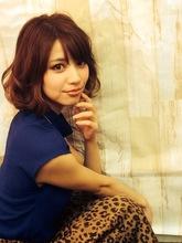 エアリーカールのルーズなウェービー甘辛フェミニン大人ボブ☆|felicita 福島店のヘアスタイル