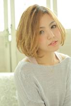 ひし形フォルムのフェミニンボブ|felicita 福島店のヘアスタイル