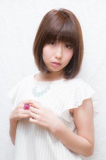 クラシカル♪内巻きワンカール鎖骨ラウンドボブ|felicita 福島店のヘアスタイル