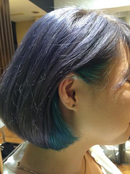 耳かけボブ ツートングラデーション 福島 野田の美容室 Felicita 福島店のヘアスタイル Rasysa らしさ